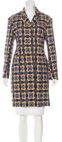 Marni Wool Geometric Print Coat