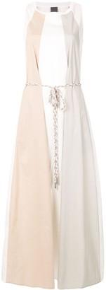 Lorena Antoniazzi Panelled Sleeveless Maxi Dress