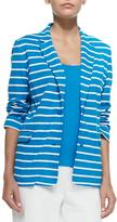 Joan Vass Striped Knit Jacket