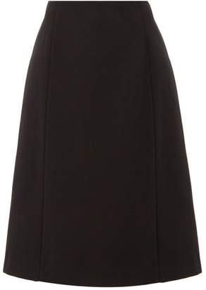 Maison Margiela Panelled Twill Skirt - Womens - Black
