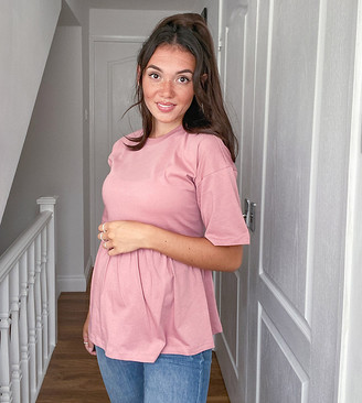 ASOS DESIGN Maternity smock in dusky pink