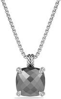 David Yurman Ch'telaine Pendant Necklace with Hematine and Diamonds