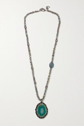 Loree Rodkin 18-karat White Gold And Sterling Silver Multi-stone Necklace