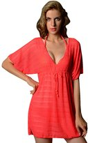 Pink Queen® Women's See Though Sunscreen Beach Dress Swimsuit Coverups L