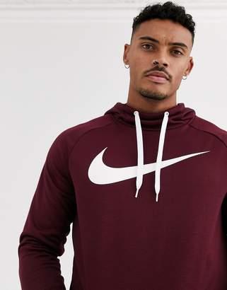 Nike Training pullover hoodie in burgundy-Red