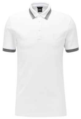 Slim-fit polo shirt with transparent-rubber trims