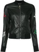 Philipp Plein Apollo bomber jacket - women - Sheep Skin/Shearling/Viscose - XS