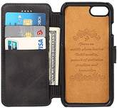 FlyHawk Leather Wallet Phone Case with Flap Cover (Stand View Case)