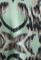 Milly Digital Ikat Print on Matte Silk V Double Strap Top