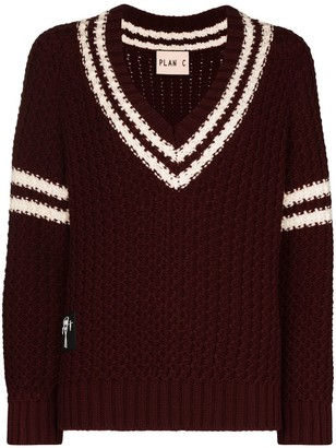 Plan C Striped Knitted Jumper