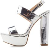 Charlotte Russe Qupid Two-Piece Platform Sandals