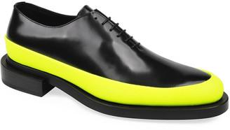 Les Hommes Men's Plain-Toe Leather Oxford Shoes