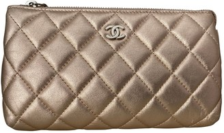 Chanel Metallic Leather Clutch bags