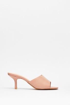 Nasty Gal Womens Mule See Faux Leather Kitten Heels - Pink