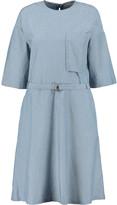 MAISON KITSUNÉ Jade belted cotton-chambray dress