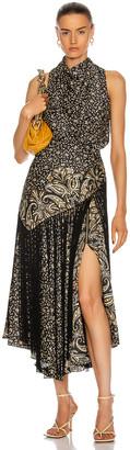 Jonathan Simkhai Dahlia Halter Dress in Black Paisley Scarf | FWRD