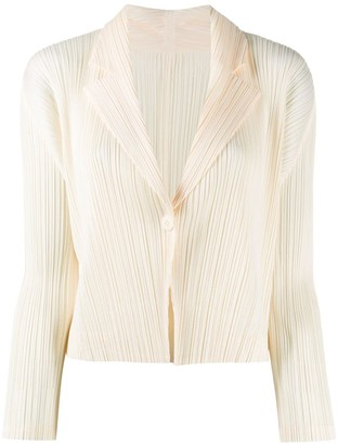 Pleats Please Issey Miyake Pleated Button-Up Jacket