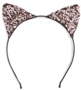 Cara Sequin Cat Ears Headband