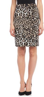 Karen Kane Leopard Print Pencil Skirt