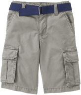 Crazy 8 Gargoyle Gray Belted Cargo Shorts - Boys