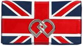 DSQUARED2 Dd British Flag Suede Clutch
