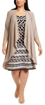 R & M Richards Plus Size Jacket Dress