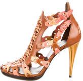 Balenciaga Leather Multistrap Cage Sandals