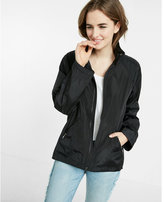 Express Mock Neck Long Convertible Sleeve Raincoat