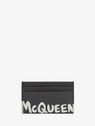Alexander McQueen McQueen Graffiti Card Holder