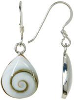 Candela Sterling Silver Shiva Shell Teardrop Dangle Earrings