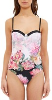 Ted Baker Adanna Painted Posie Underwire One-Piece Swimsuit