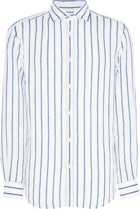 Ralph Lauren Purple Label Serengeti Striped Linen Shirt