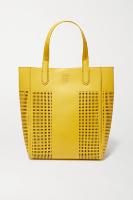 Tom Ford T Medium Perforated Leather Tote - Yellow