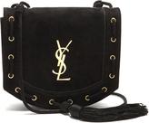 Saint Laurent Monogram medium suede cross-body bag