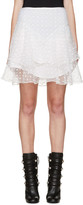 Isabel Marant White Flared Vadim Miniskirt