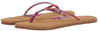 Flojos Hula Textile Strap Thong Sandal (Fuchsia/Tan) Women's Sandals