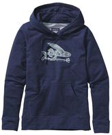 Patagonia Women's Illustrated Flying Fish Midweight Pullover Hooded Sweatshirt