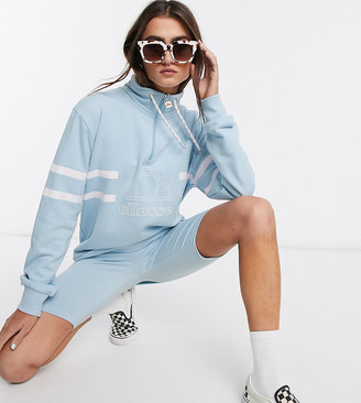 Ellesse oversized sweatshirt with funnel neck two-piece