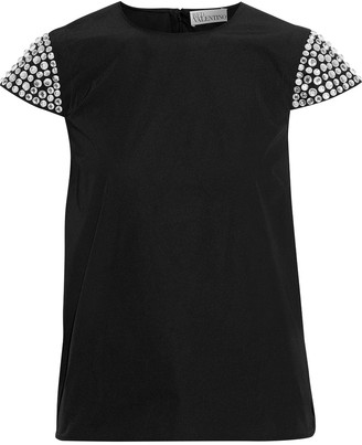 RED Valentino Crystal-embellished Twill Top