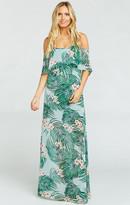 MUMU Caitlin Ruffle Maxi Dress ~ Hanalei Dream