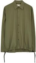 Marni Olive Poplin Shirt