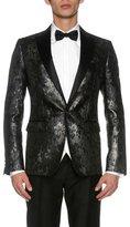 DSQUARED2 London Jacquard Evening Jacket, Black/Gray