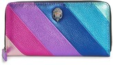 Kurt Geiger London Eagle Rainbow Stripe Leather Zip Around Wallet