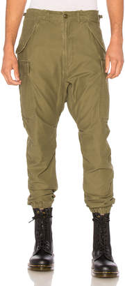 R 13 Surplus Military Cargo Pants in Olive | FWRD