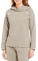 Lucky Brand Hooded Fleece Lounge Top