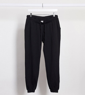ASOS DESIGN Maternity basic sweatpants with tie in organic cotton