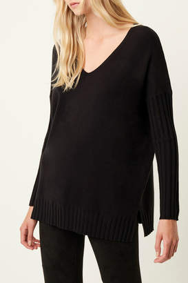 French Connection RIBBED V NECK SWEATER