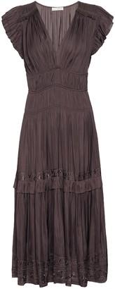 Ulla Johnson Claudia embroidered satin midi dress