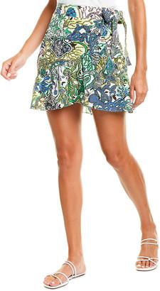 A.L.C. Hampton Linen & Silk-Blend Wrap Skirt