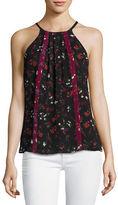 Joie Hawn Sleeveless Floral-Print Silk Top